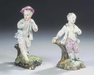 (2) Two Höchst porcelain figur