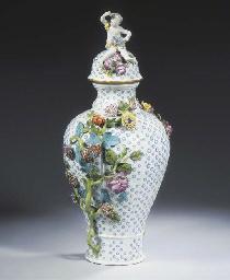 (2) A large Meissen porcelain