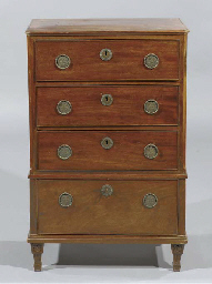 An English mahogany chest-of-d