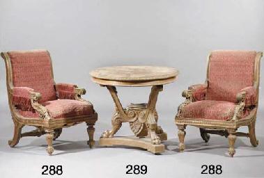 A German oak centre table