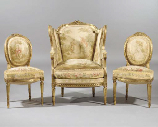 (3) A French suite of Louis XV