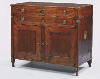 An Austrian mahogany sideboard