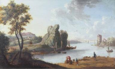 A Mediterranean landscape with