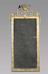 A Dutch white painted giltwood