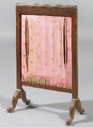 A Dutch mahogany firescreen