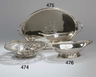 An English silver breadbasket