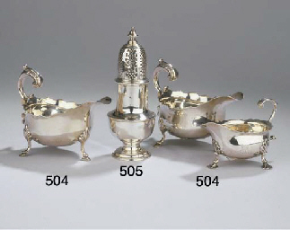 An English silver caster