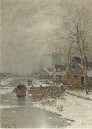 Walking home in winter