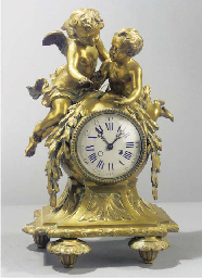 A French gilt-bronze striking