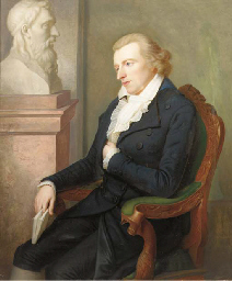 Portrait of Schiller seated by