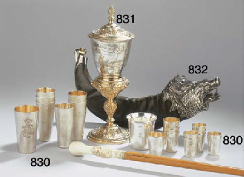 A parcel-gilt cup and cover