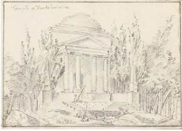 Vue d'un temple à Mortefontain