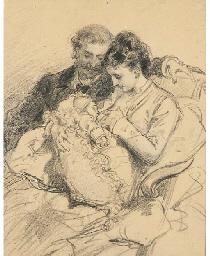Femme allaitant son enfant, so