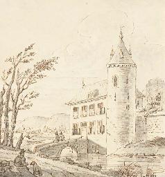 Un château entouré de douves d