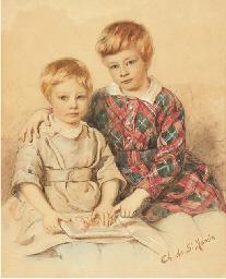 Portrait de deux jeunes garçon