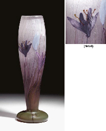 A CARVED MARQUETRY GLASS 'CROC