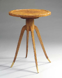 AN AMBOYNA OCCASIONAL TABLE