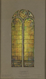 STUDY FOR A WINDOW, WATERCOLOR