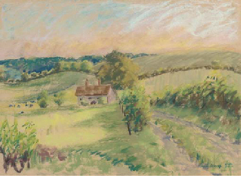 House in a landscape; and wint