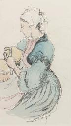 Breton peasant (recto); and A