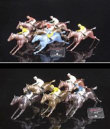 Britains 123B Jockeys and Hors