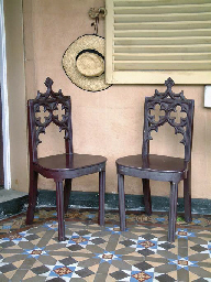 A PAIR OF 19TH CENTURY GOTHIC