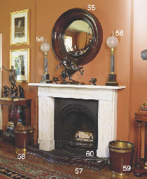 A PAIR OF LARGE CONVEX MIRRORS