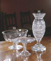 A LARGE OVAL CRYSTAL BOWL BY M
