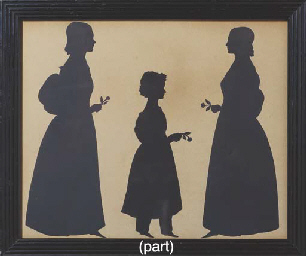 A GROUP OF FOUR VICTORIAN SILH
