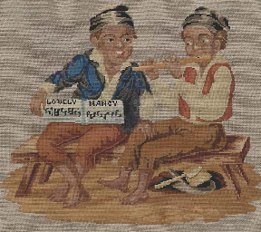 A PAIR OF NEEDLEWORK PICTURES