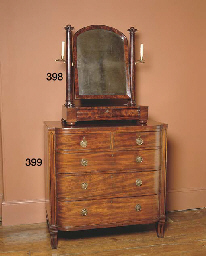 A REGENCY MAHOGANY CHEST OF DR