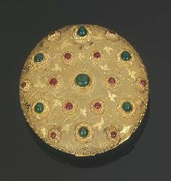 Portacipria in oro con smerald