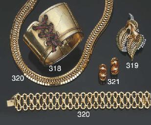 Antico bracciale in oro e arge