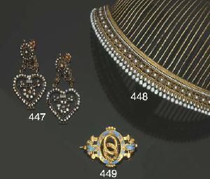 Antica tiara in argento dorato
