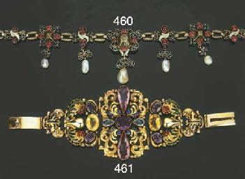Antico bracciale in oro con sm