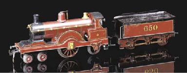 A Bing Clockwork MR 4-2-2 loco