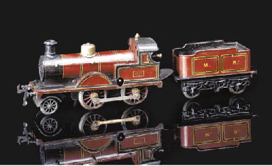 A Bing Clockwork MR 2-4-0 Loco