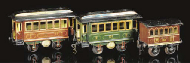 Early Märklin two-axle coaches