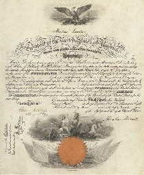 LINCOLN, Abraham. Engraved doc