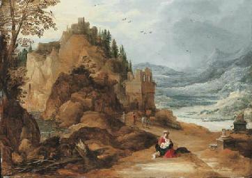 A mountainous river landscape