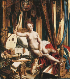An allegory of love and music