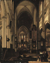 The interior of a church with