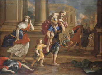 The Flight of Aeneas and his F