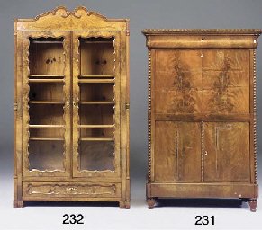 A French mahogany secretaire a