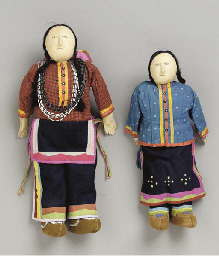 A PAIR OF SANTEE SIOUX BEADED