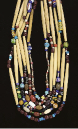 A GROUP OF SIX SIOUX NECKLACES