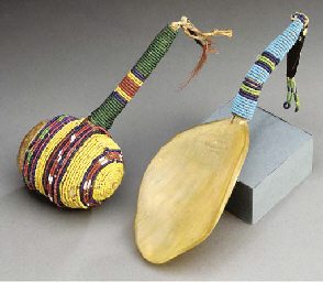 TWO SIOUX BEADED IMPLEMENTS
