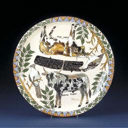 A nguni cow plate