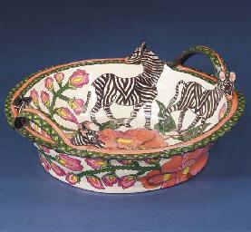 A zebra dish