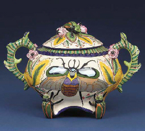 A beetle tureen and cover